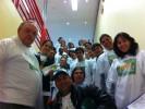 Voluntários do Recicla Bem Floripa na ação do dia 09/08