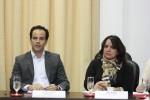 Secretário Filipe Mello e vice-presidente da FloripAmanhã e presidente do Conselho Estadual de Turismo, Jô Cintra.