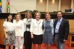 Ana Lavrati, ex-diretora adjunta de comunicação; Zena Beckar, Márcia Teschner, secretária executiva, Anita Pires, Solange Borguesan, diretora financeira, e Hélio Leite (CDL)