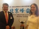 Eduardo Barroso e Marielza Oliveira, diretora da Unesco para Ásia.