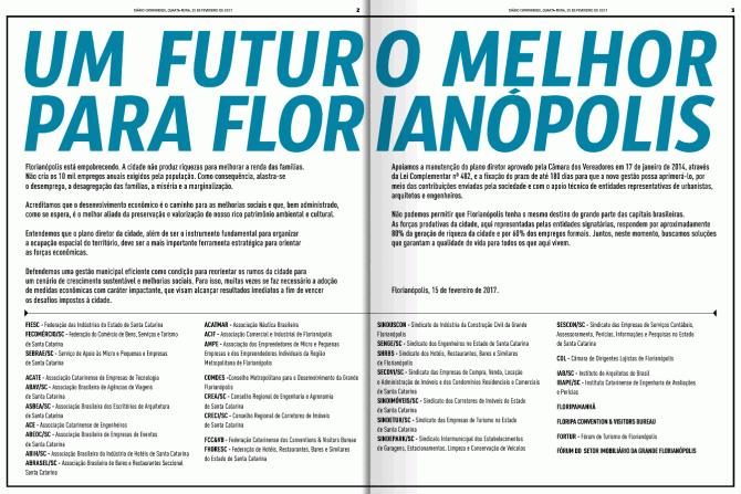 manifesto Um Futuro Melhor para Florianópolis