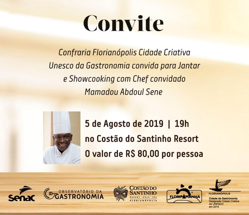 Confraria convida para jantar com Mamadou Sene
