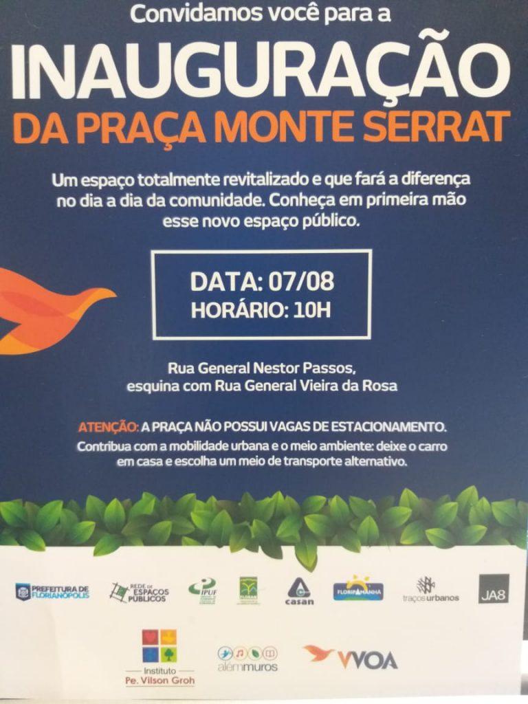 Praça Monte Serrat será inaugurada quarta, 07/08